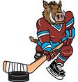 razorback sports logo mascot hockey vector image vector image