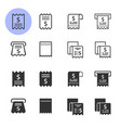 receipt icon set isolated on white vector image vector image