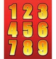 Retro numbers for signs with lamps vector image vector image
