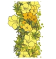 seamless background yellow exotic flowers vector image vector image