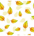 seamless pattern with falling yellow leaves vector image vector image