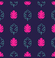 seamless pattern with monstera palm leaves trendy vector image