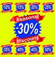 seasjnal discount sale tags vector image