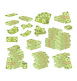 set money isolated on white background packing vector image vector image