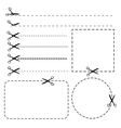 Set of coupon borders vector image vector image