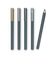 set of grey blue cosmetic makeup eyeliner vector image vector image