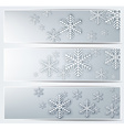 Set of grey christmas banners vector image vector image
