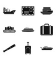 shipping icons set simple style vector image