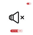 speaker mute icon vector image vector image
