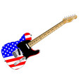 stars and stripes guitar vector image vector image