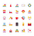 summer and holidays icons 20 vector image