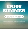 Summer beach party poster with a message vector image vector image