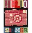 Summer typographic retro grunge poster