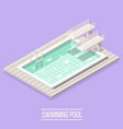 swimming pool isometric composition vector image vector image