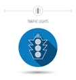 Traffic light icon Safety direction regulate vector image vector image