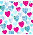 watercolor hearts seamless pattern valentines day vector image vector image