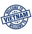 welcome to vietnam blue stamp vector image vector image