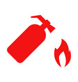 fire extinguisher icon set vector image