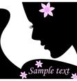 Silhouette female vector image