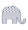 silhouette elephant flag united states vector image