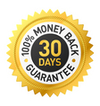 30 days Money back label vector image vector image