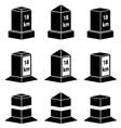 3d milestone black symbols vector image vector image
