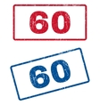 60 Rubber Stamps vector image vector image