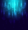 Abstract blue light and bokeh glowing background vector image vector image