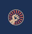activist rebellion fist symbol abstract vector image