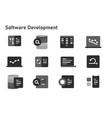 agile methodology software development icon set vector image vector image
