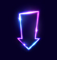 arrow background 3d city move neon sign vector image