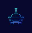 autonomous car line thin icon