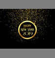 beautiful 2019 happy new year sparkles and vector image vector image