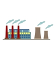 Big factory icon in flat style design vector image vector image