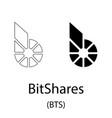 bitshares black silhouette vector image vector image
