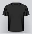 black empty t-shirt vector image