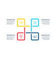 business concept with 4 options parts steps or vector image vector image