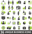 BusinessIcons vector image vector image