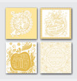 cardsrosh hashanah cards collection vector image vector image