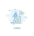 career line concept simple line icon colored vector image vector image