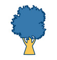 cartoon big tree vector image