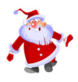 cartoon santa claus curve and funny vector image vector image