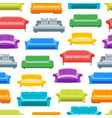 cartoon sofa or divan background pattern on a vector image vector image