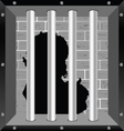 child in prision silhouette vector image vector image