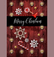 christmas banner or postcard with fir star and vector image vector image