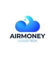 cloud money logo template design finance concept vector image
