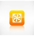 Computer cooling fan icon Application button vector image