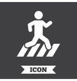 Crosswalk icon Crossing street sign vector image