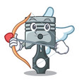 cupid piston in the form of mascot vector image