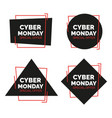 cyber monday banners set sale concept vector image